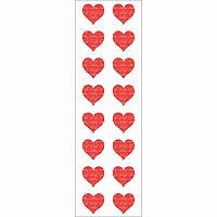 Sparkle Small Red Hearts Stickers