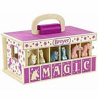 Unicorn Magic Wooden Carry Case